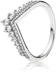 Pandora Stylowy Srebrny pierścionek z błyszczącymi kamieniami CZ (obwód 50 mm) srebro 925/1000