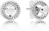 Pandora Ezüst fülbevaló szívvel 297709CZ ezüst 925/1000