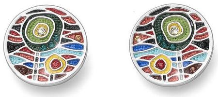 Oliver Weber Multi-kolorowe kolczyki 22697 Dwie sztuki