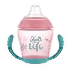 Canpol babies kubek niekapek z silikonowym smoczkiem 230 ml Sea Life