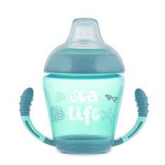 Canpol babies nevylievací hrnček so silikónovým náustkom 230 ml Toys modrý