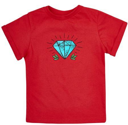 Garnamama dětské tričko 104 červená