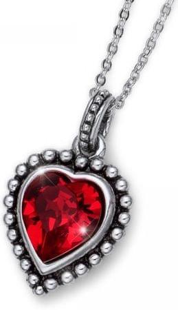 Oliver Weber Romantična kristalna ogrlica na plaži antično srce 11731 227