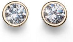 Oliver Weber Basic aranyozott ezüst fülbevaló kristályokkal 62072G ezüst 925/1000