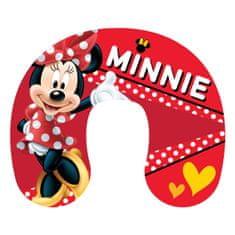 Jerry Fabrics potovalni vzglavnik Minnie, rdeč