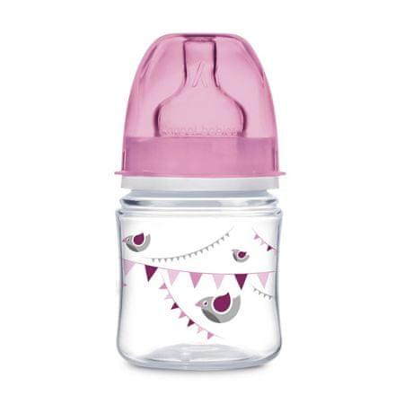 Canpol babies Butelka z szerokim gardłem 120 ml różowy