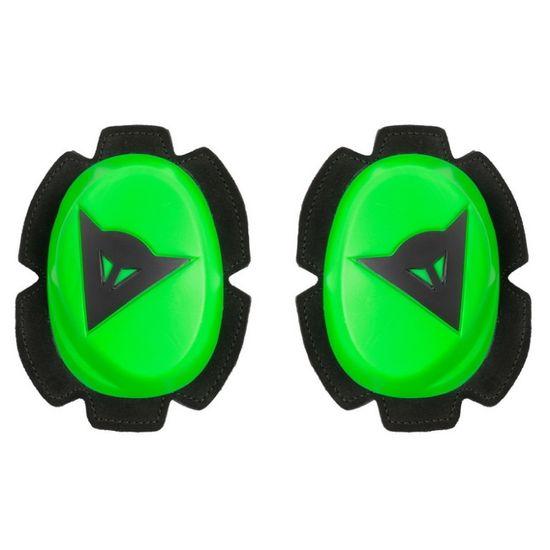 Dainese kolenní slidery PISTA, fluo zelená/černá (pár)