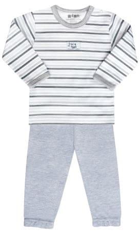 Nini fiú pizsama 80 fehér/szürke