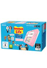 Nintendo igraća konzola 2DS, roza/bijela + Tomodachi Life