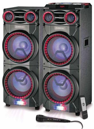 Manta akustični avdio sistem karaoke SPK6013, dvojni zvočnik, 16.000W