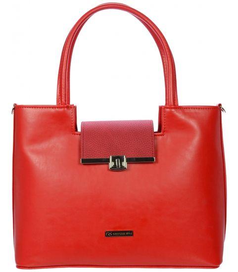GROSSO BAG červená kabelka - zánovní