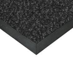FLOMAT Černá textilní čistící vnitřní vstupní rohož Valeria, FLOMAT (Bfl-S1) - 0,9 cm