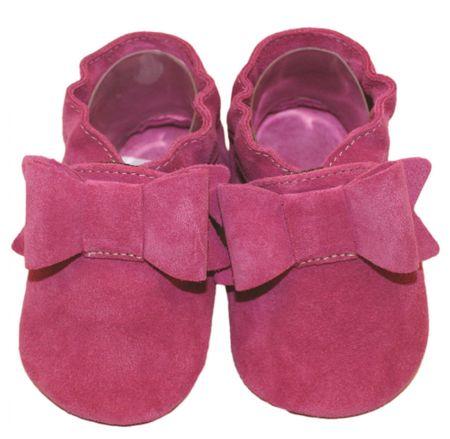baBice lány puha talpú tipegő Bow 16.5 rózsaszín
