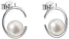 Evolution Group Ezüst fülbevaló bazsarózsa valódi gyöngyökkel Pavon 21021.1 ezüst 925/1000