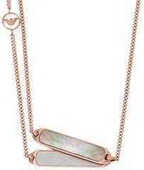 Emporio Armani Luxusné jemný náhrdelník EGS2097221
