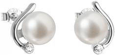 Evolution Group Ezüst fülbevaló gyöngyökkel valódi gyöngyökkel Pavon 21038.1 ezüst 925/1000
