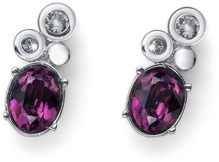 Oliver Weber Svetleči uhani z vijoličnimi kristali Dokaži 22752 204