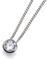 Oliver Weber Stříbrný náhrdelník Solitaire 61118 (řetízek, přívěsek) stříbro 925/1000