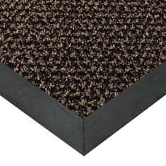 FLOMAT Hnědá textilní čistící vnitřní vstupní rohož Alanis, FLOMAT - 0,75 cm