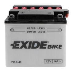 Exide batéria EB9-B, 12V 9Ah, za sucha nabitá s antisulfační úpravou. Náplň súčasťou balenia.