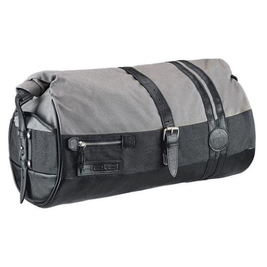 Held taška (rollbag) na sedlo spolujazdca CANVAS 20L, čierna/sivá (vodeodolná)