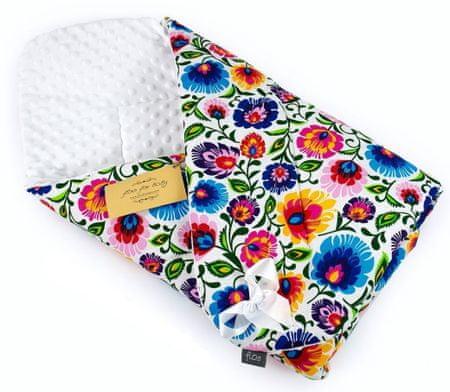 Floo For Baby otroška spalna vreča MINKY 3v1 WHITE FOLKLOR