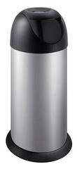Meliconi 40L BULLET szemetes, ezüst felülettel