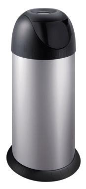 Meliconi Koš na odpadky 40L BULLET stříbro - rozbaleno