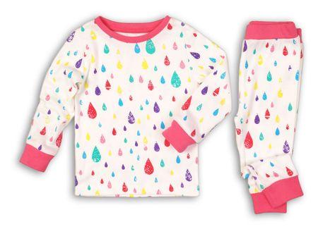 Minoti dívčí pyžamo Sleepover 68 - 80 bílá