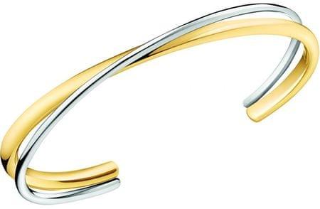 Calvin Klein Tömör dupla bicolor karkötő Double KJ8XJF2003 (dimenzió S (5,8 x 4,6 cm))