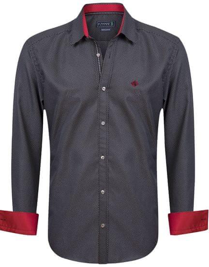 Sir Raymond Tailor pánská košile Corner M čierna