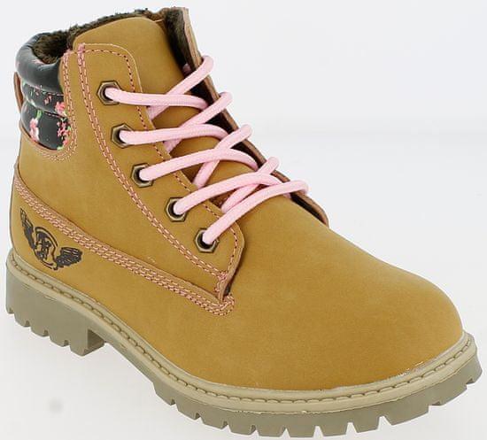 V+J dívčí zimní boty 30 okrová