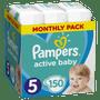 1 - Pampers Pieluchy Active Baby 5 Junior (11-16 kg) 150 sztuk