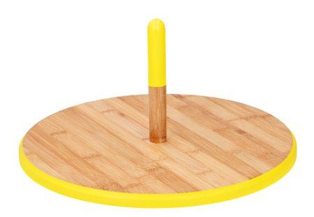 TimeLife taca do serwowania deserów BAMBUS 33cm żółta