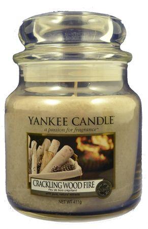 Yankee Candle świeczka zapachowa Classic średnia 411 g Crackling Wood Fire