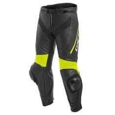 Dainese pánske kožené moto nohavice  DELTA 3 čierna/fluo žltá