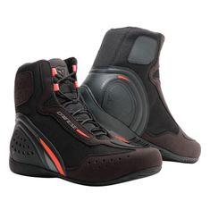Dainese členkové moto topánky MOTORSHOE D1 D-WP čierna/fluo červená/antracitová
