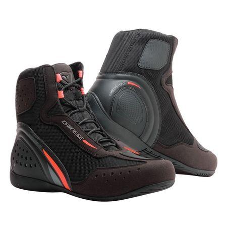Dainese členkové moto topánky  MOTORSHOE D1 D-WP vel.41 čierna/fluo červená/antracitová