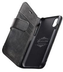 CellularLine Könyv típusú Supreme prémium bőr tok Apple iPhone XS Max készülékhez, fekete SUPREMECIPHX65K