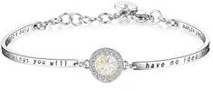 Brosway Chakra jeklena zapestnica s kristali BHK155