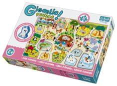 Trefl puzzle zwierzęta Gigantic ZOO, 12 szt.