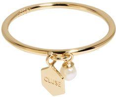 Cluse Ezüst gyűrű, hatszögű és gyöngyös CLJ41007 ezüst 925/1000