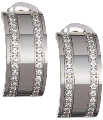 Preciosa kolczyki ze stali z jasnymi kryształami Mia 7225 00