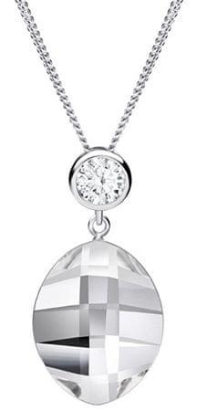 Preciosa Ogrlica Hana s prozornimi kristali 6098 00 srebro 925/1000