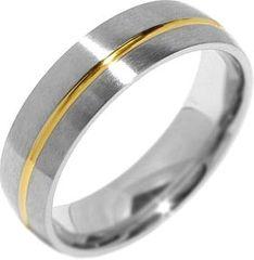 Silvego Poročni jekleni prstan za moške PARIS RRC2048-M