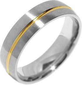 Silvego Eljegyzési acél gyűrű a férfiak PARIS RRC2048-M (áramkör 68 mm)