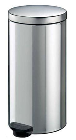 Meliconi kosz na śmieci 30L srebrny metaliczny