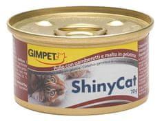 Shiny Cat Konzerva SHINY CAT kuře+kreveta 70g