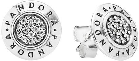 Pandora Srebrni uhani s kristali 290559CZ srebro 925/1000