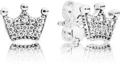 Pandora Glitter fülbevaló Crown 297127 ezüst 925/1000
